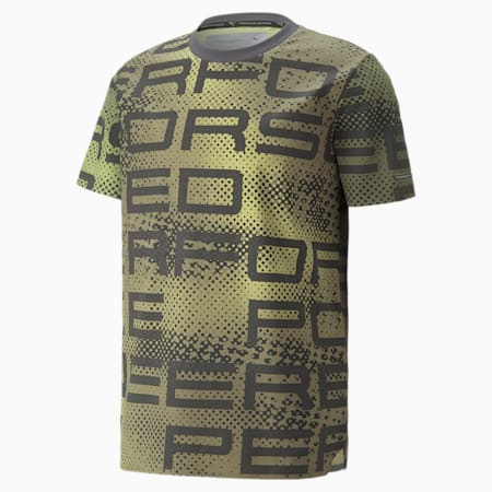 Porsche Design Herren T-Shirt mit Grafikprint, Asphalt, small