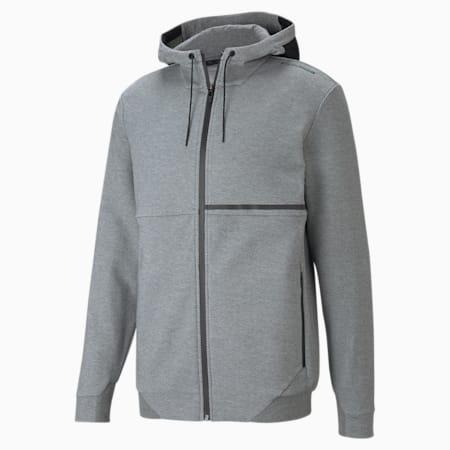 Porsche Design Hooded Men's Sweat Jacket, Medium Gray Heather, small
