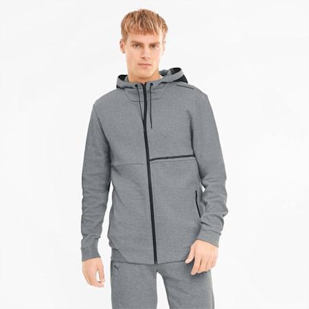 Porsche Design Hooded Men's Sweat Jacket, Medium Gray Heather, small-GBR