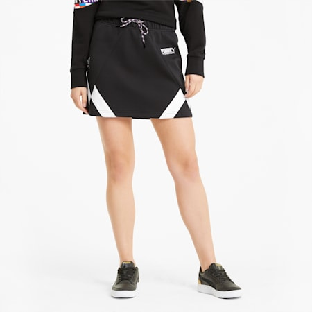PUMA International Double-Knit Women's Skirt, Puma Black, small-IND