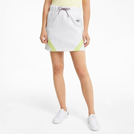 INTL Game Women's Double Knit Skirt, Puma White, small