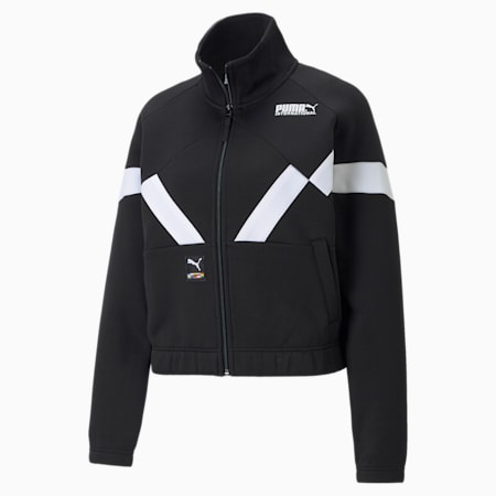 INTL Game Women's Double Knit Track Jacket, Puma Black, small-GBR