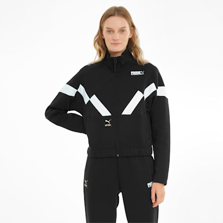 PUMA International Double Knit Damen Trainingsjacke, Puma Black, small