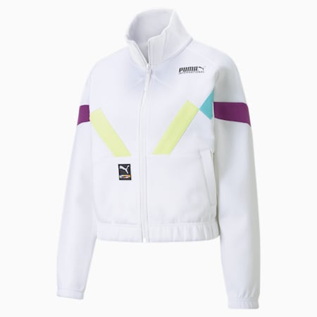 INTL Game Women's Double Knit Track Jacket, Puma White, small-GBR