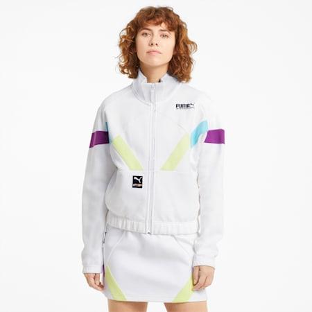 PUMA International Double Knit Women's Track Jacket, Puma White, small-SEA