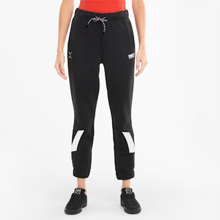 INTL Game Women's Double Knit Track Pants, Puma Black, small