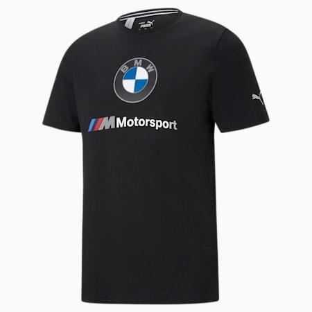 BMW M Motorsport Essential Men's Logo Tee, Puma Black, small