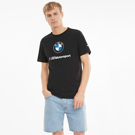 BMW M Motorsport Essentials Logo Men's Tee, Puma Black, small