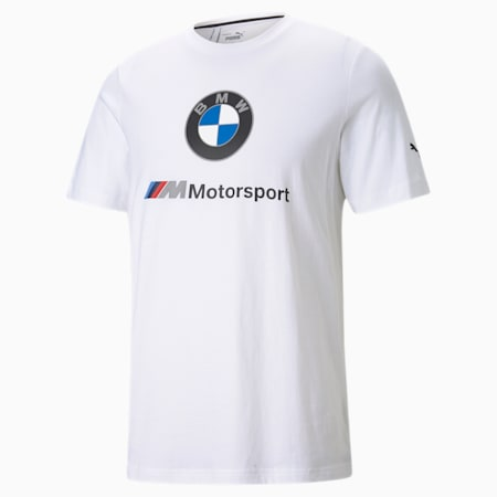 BMW M Motorsport Essentials T-shirt met logo heren, Puma White, small