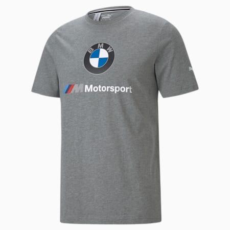 BMW M Motorsport Essentials T-shirt met logo heren, Medium Gray Heather, small