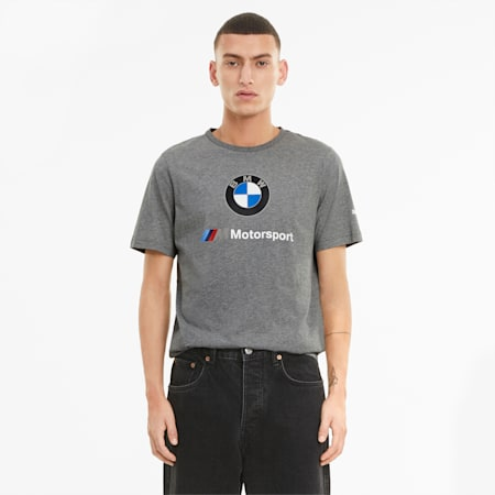 BMW M Motorsport Essentials Logo Men's Tee, Medium Gray Heather, small-GBR
