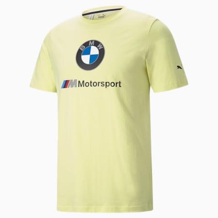 T-shirt à logo essentiel BMW M Motorsport, homme, JAUNE FLUO DOUX, petit