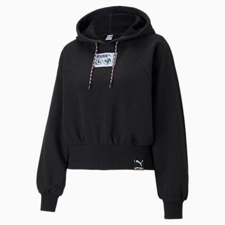 Damska bluza z kapturem PUMA International, Puma Black, small