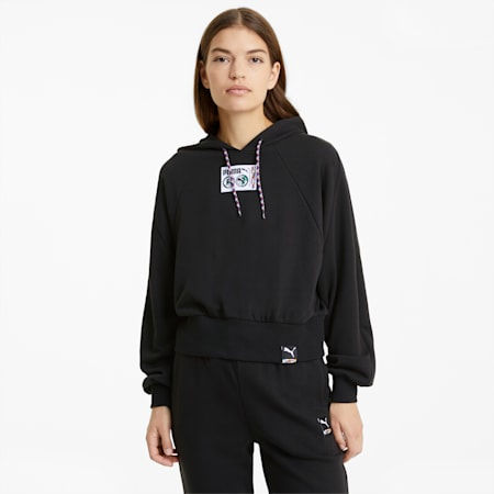 PUMA International Women's Hoodie, Puma Black, small