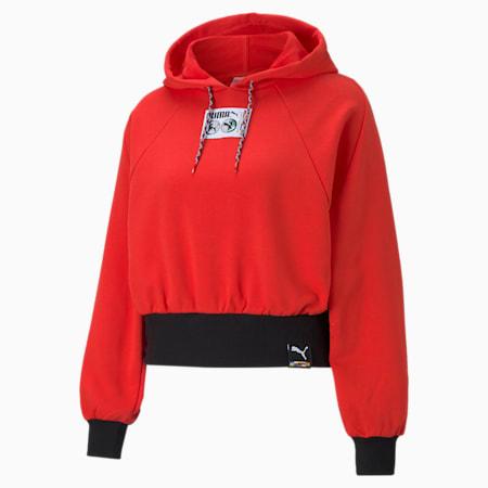 Damska bluza z kapturem PUMA International, Poppy Red, small