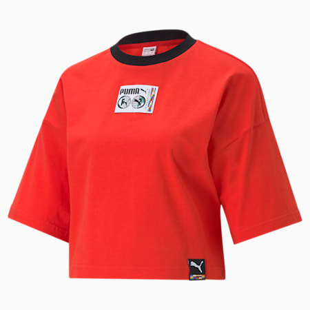 INTL Game Women's Graphic Tee, Poppy Red, small-SEA