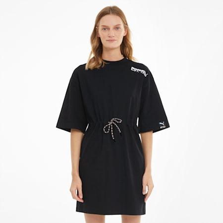 PUMA International Women's Tee Dress, Puma Black, small-GBR