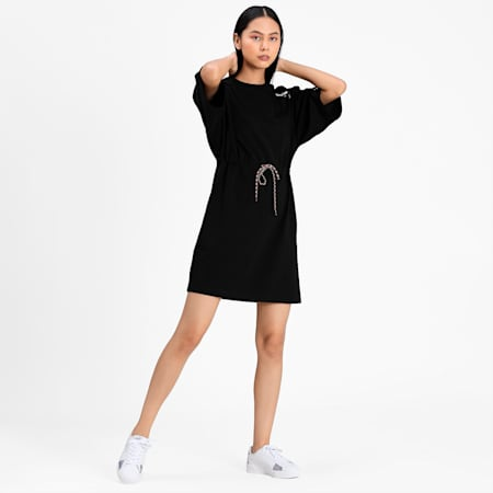 PUMA International Women's  Dress T-shirt, Puma Black, small-IND