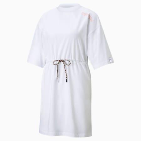 PUMA International Women's Tee Dress, Puma White, small-SEA