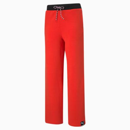 Damskie spodnie z szerokimi nogawkami PUMA International, Poppy Red, small