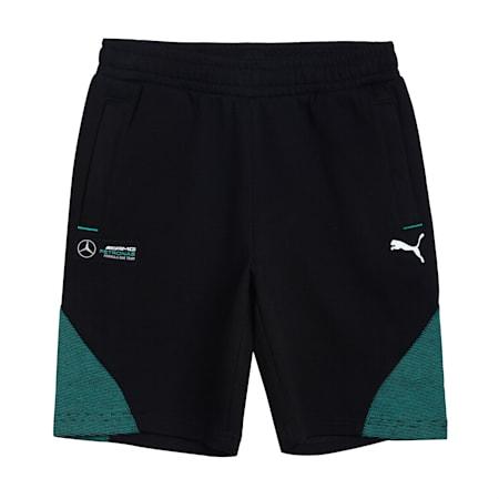 Mercedes Unisex Kids Sweat Shorts, Puma Black, small-IND