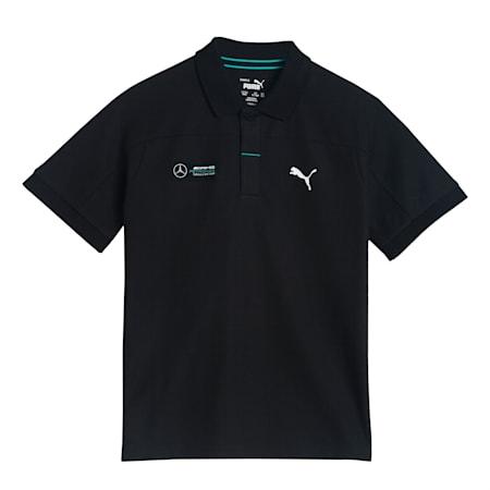 Mercedes F1 Kid's Polo Shirt, Puma Black, small-IND
