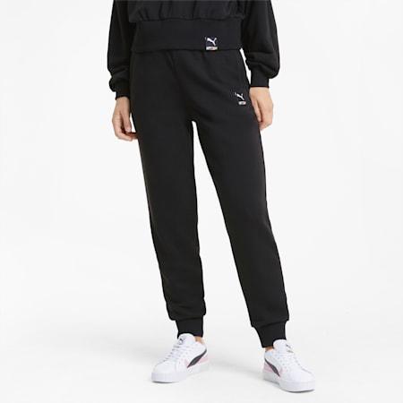 Pantalones de chándal de punto PUMA International para mujer, Puma Black, small