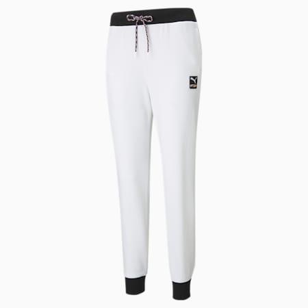 Damskie dzianinowe spodnie dresowe PUMA International, Puma White, small