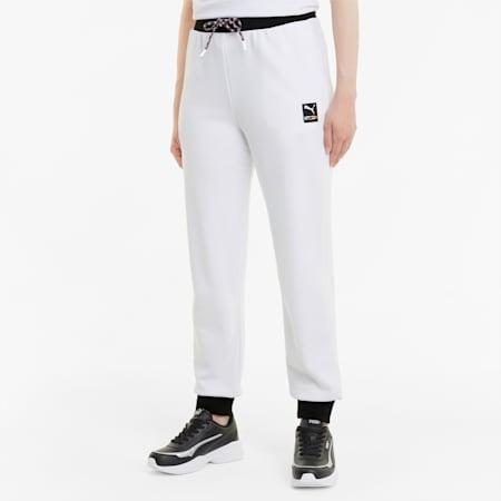 Pantalon de survêtement en maille PUMA International femme, Puma White, small