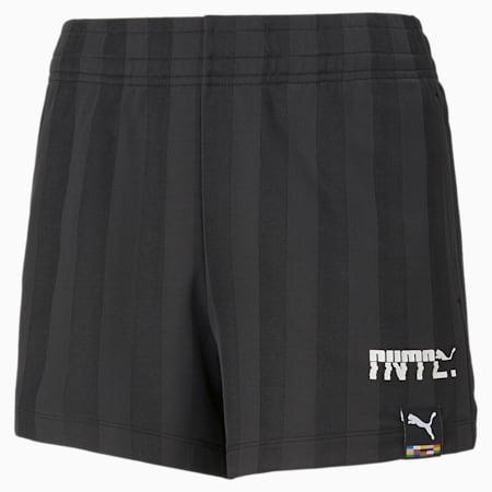 Shorts de jersey PUMA INTL para mujer, Puma Black, pequeño
