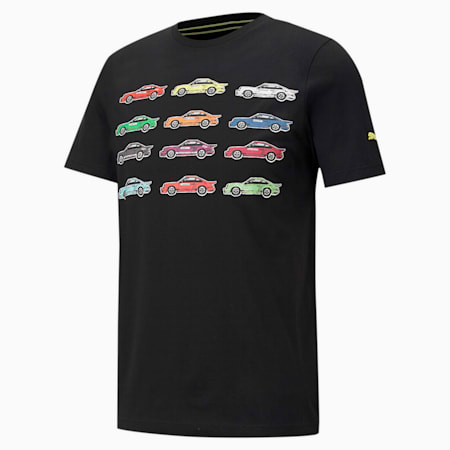 ポルシェ レガシー ステートメント Tシャツ, Puma Black, small-JPN