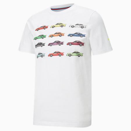 님성 포르쉐 라이센스 스테이트먼트 반팔 티셔츠, Puma White, small-KOR