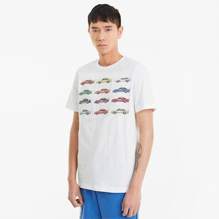 님성 포르쉐 라이센스 스테이트먼트 반팔 티셔츠/PL Statement Tee, Puma White, small-KOR
