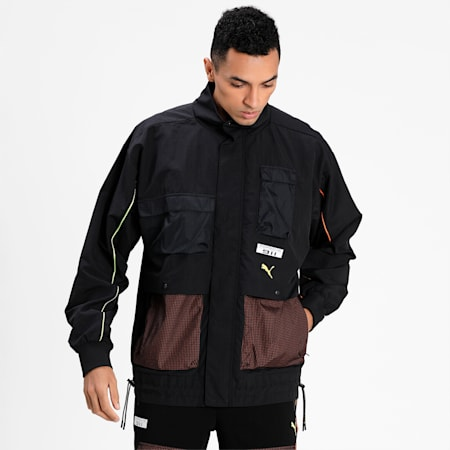 Porsche Legacy Statement Men's Relaxed Jacket, Puma Black, small-IND