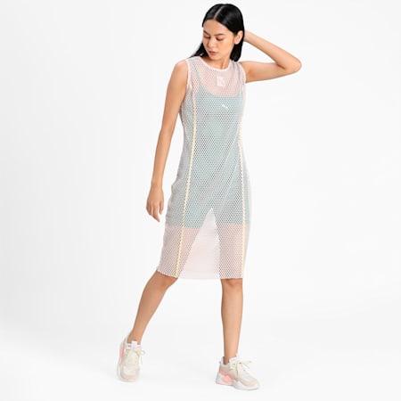 Evide Mesh Women's Dress, Cloud Pink, small-IND