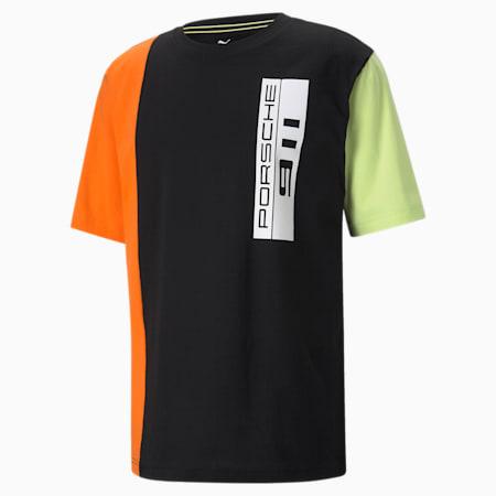 님성 포르쉐 라이센스 스테이트먼트 오버 사이즈 반팔 티셔츠, Puma Black, small-KOR