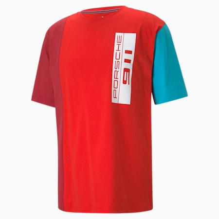 ポルシェ レガシー ステートメント オーバーサイズ Tシャツ, Poppy Red, small-JPN