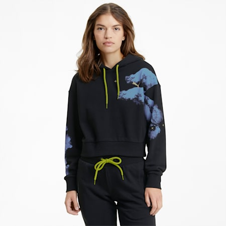 Evide Women's Graphic Hoodie, Puma Black, small-SEA