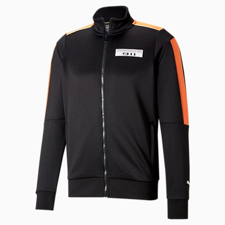 Porsche Legacy T7 Men's Motorsport Track Jacket, Puma Black, small