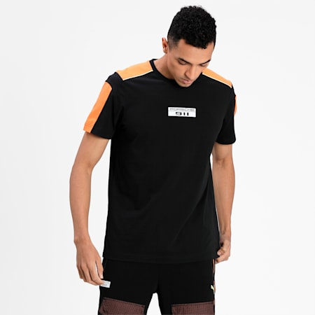 Porsche Legacy T7 Men's  T-shirt, Puma Black, small-IND