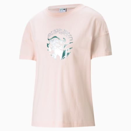 Evide Women's Graphic Tee, Cloud Pink, small-SEA