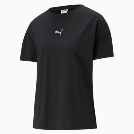Evide Damen T-Shirt mit Grafik, Puma Black-2, small