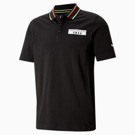Porsche Legacy Men's Polo Shirt, Puma Black, small-IND