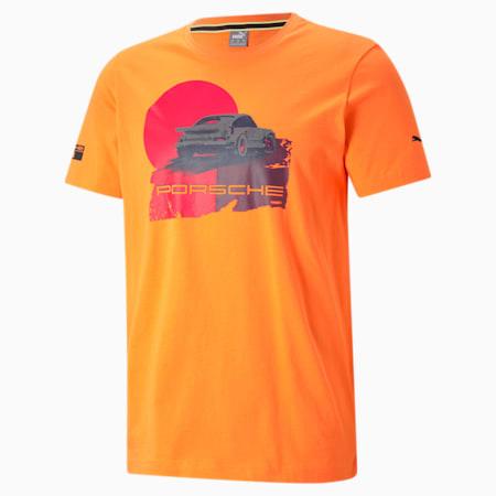 Porsche Legacy Graphic Men's  T-shirt, Carrot, small-IND