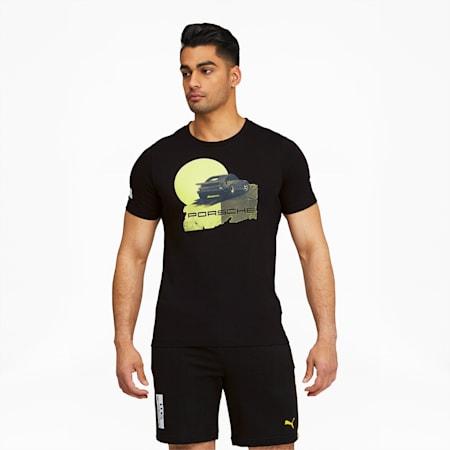 Camiseta estampada PorscheLegacy para hombre, Puma Black, pequeño