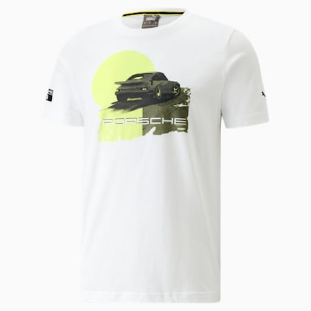 Porsche Legacy Graphic T-shirt heren, Puma White, small