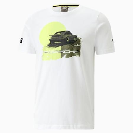 Porsche Legacy Graphic Men's Tee, Puma White, small
