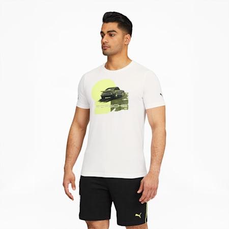 Camiseta estampada PorscheLegacy para hombre, Puma White, pequeño