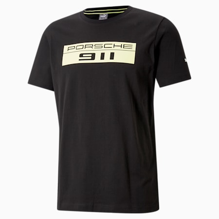 Porsche Legacy Men's Big Logo Tee, Puma Black, small-SEA