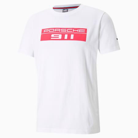 ポルシェ レガシー ビッグ ロゴ Tシャツ, Puma White, small-JPN